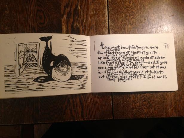 whale book interior